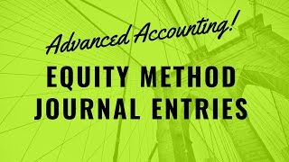ch 1 the equity method of 2 when a company controls the common shares of another company, the equity method is used by the parent company for financial reporting purposes.