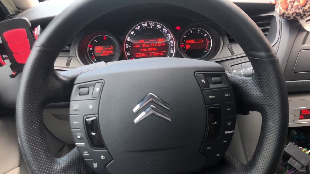 Citroen C4 car stereo Steering Wheel control lead with Reverse sensor adaptor