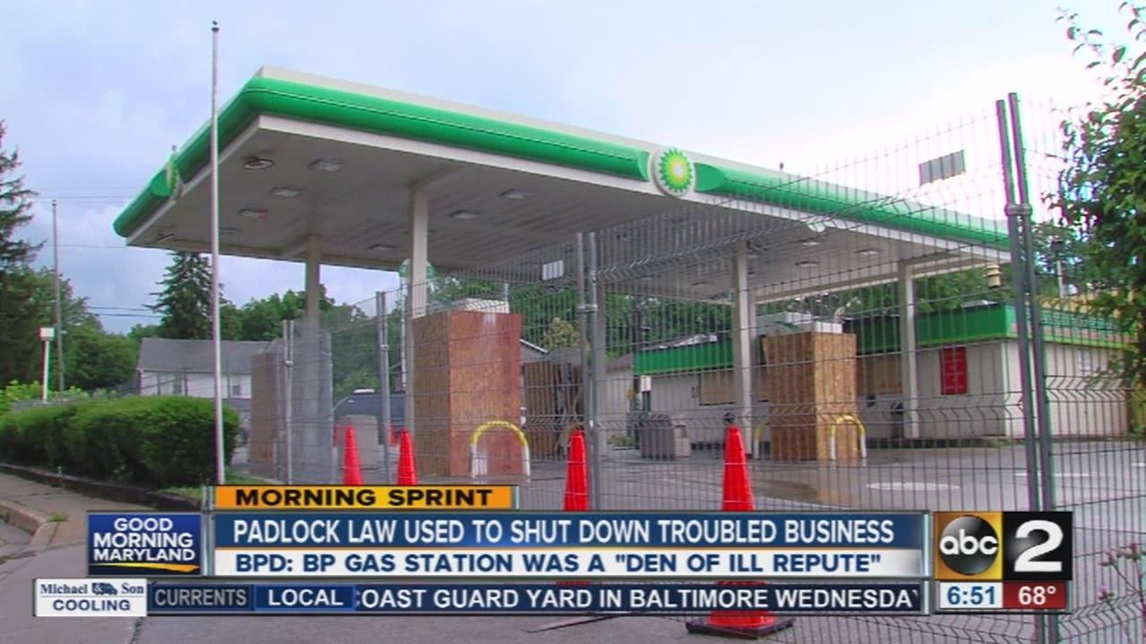 Padlock Law used to shut down BP gas station