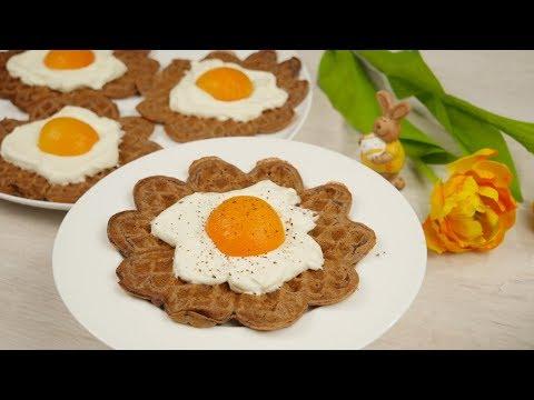 Cheesecake Easter Waffles | Spiegelei Waffeln | Oster Waffeln