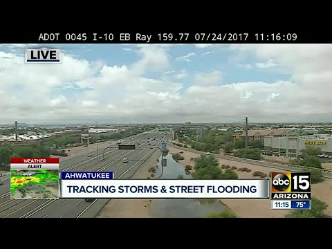 Flooding in Ahwatukee after Monday storm