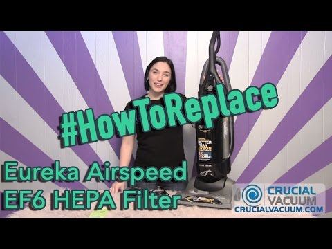 Eureka Airspeed Bagged System EF6 HEPA Filter Replacement: Part # 83091-1, # 830911