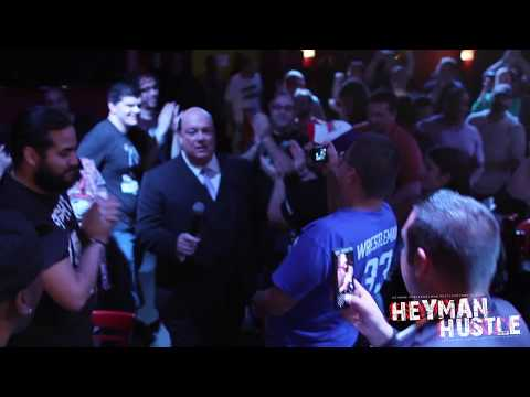 """Paul Heyman's Entrance at the Jim Ross """"Ringside"""" Show in NYC"""