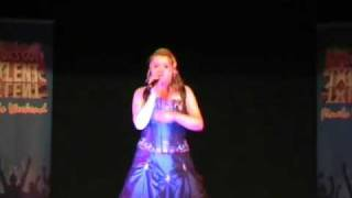 Gemma Macleod singing at National Finals