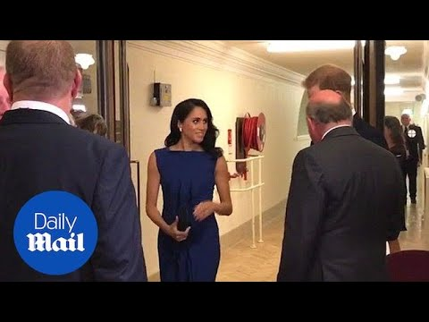 Prince Harry and Meghan meet performers at charity concert