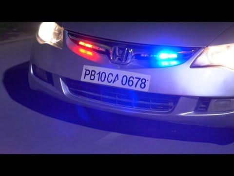 Police Lights Installation