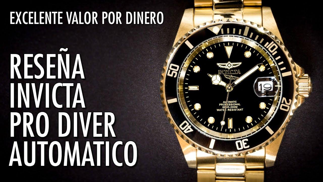 2ba0ab08c940 Reseña Invicta Pro Diver 8929OB Automatico de Buceo Clásico Reloj en Español