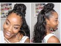 YouTube Turbo DOPE HALF UP HALF DOWN STYLE FT NADULA HAIR| FILTHY RICH TRESSES INSPIRED