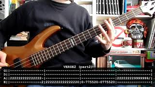 LA POLLA RECORDS - Ellos dicen mierda (bass cover w/ Tabs)