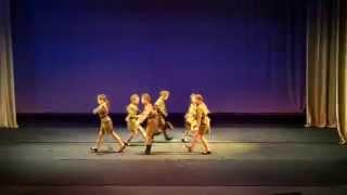 Военная плясовая.  Группа детей профессионального обучения. Концерт школы танцев Nataraj 25.05.2014