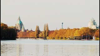Golden October at the Maschsee in Hanover, Gemany