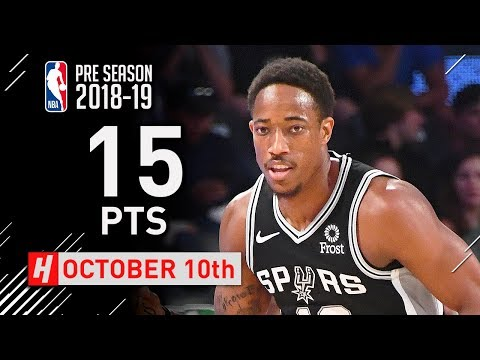 DeMar DeRozan Full Highlights Spurs vs Hawks 2018.10.10 - 15 Pts, 6 Assists!