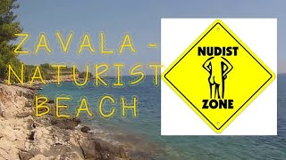NUDIST BEACH ZAVALA, HVAR - THE BEACH (July 2016)