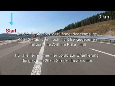A46 Run Bestwig  Nuttlar  Straßen.NRW     20km Gesamtstrecke Im Zeitraffer