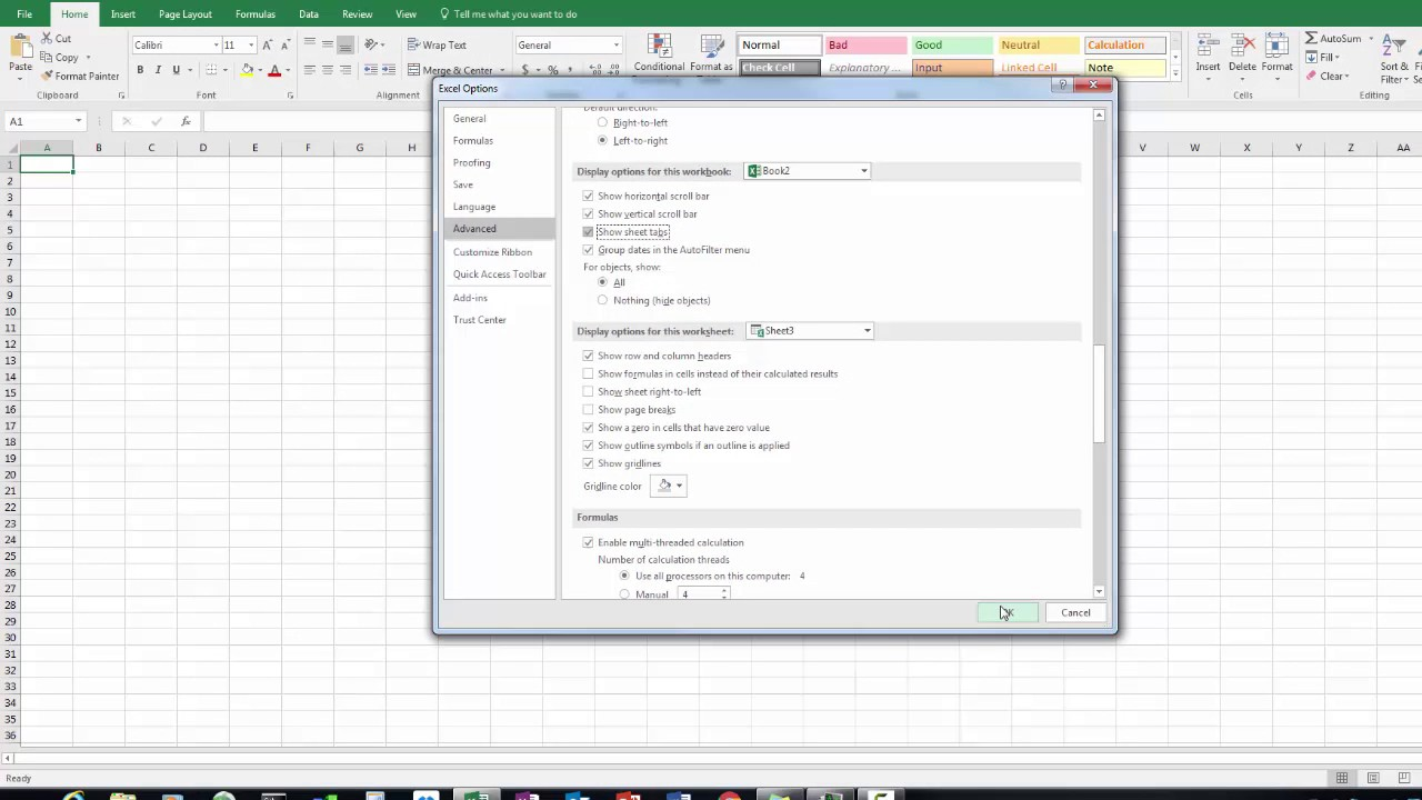 Worksheet tabs missing in microsoft excel also youtube rh