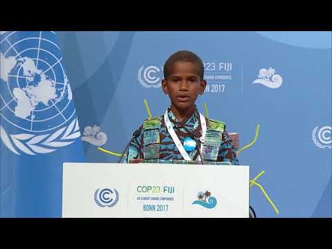 Timoci Naulusala opens COP23 High Level Segment