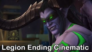 WoW Legion Ending Cinematic - Seat of Pantheon - Rise of Argus - Antorus -  Sargeras Stabs Azeroth