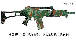 How to paint Flecktarn / покраска в камуфляж Флектарн