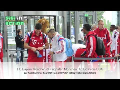 FCB goes USA! FC Bayern Audi Summer Tour USA 2014: Abflug am 30.07.2014