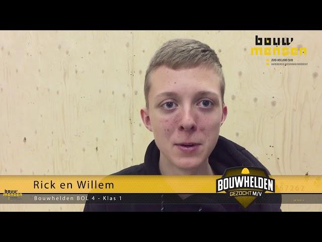 Wandbekisting met Rick en Willem