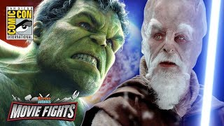 The Force vs The Hulk   MOVIE FIGHTS! Live from Comic Con 2017