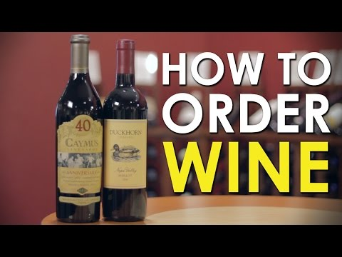 How to Order Wine   The Art of Manliness