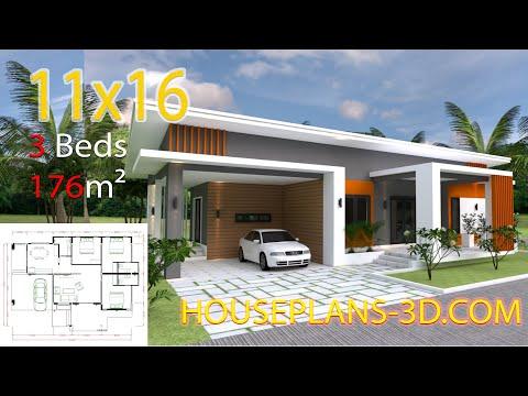 3d-three-bedroom-plan-11x16m-with-3-bedrooms