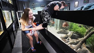 My KIDS react to my AQUARIUMS! | The King of DIY