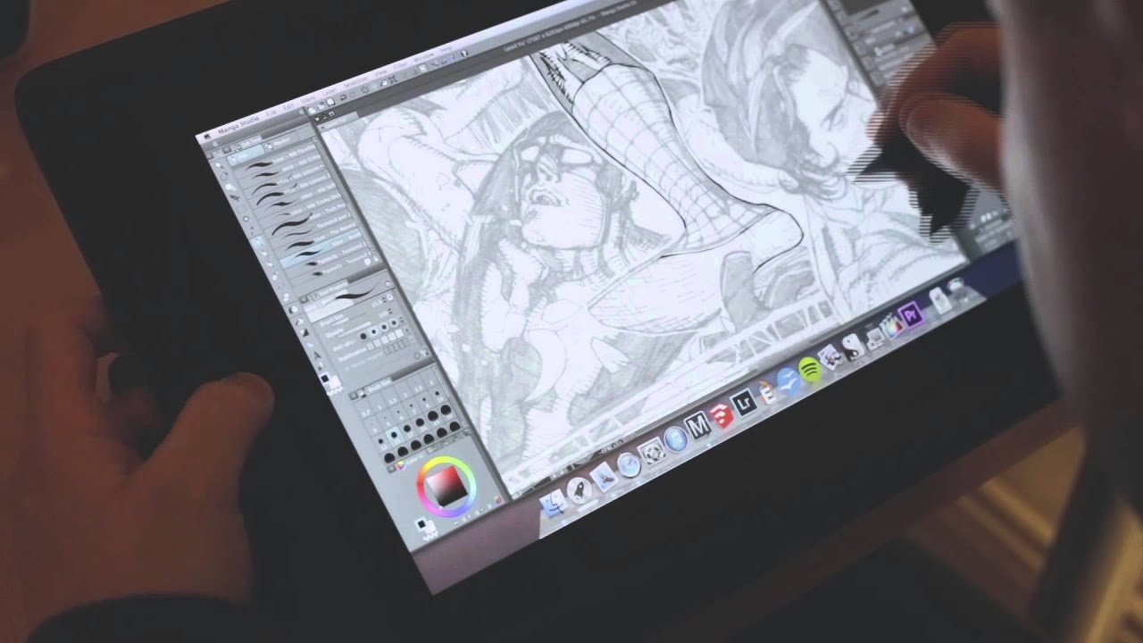 Digital Inking Manga Studio 5ex Wacom Cintiq 13hd