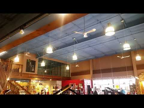 Con-Tech Industrial/Commercial Ceiling Fans in a music store