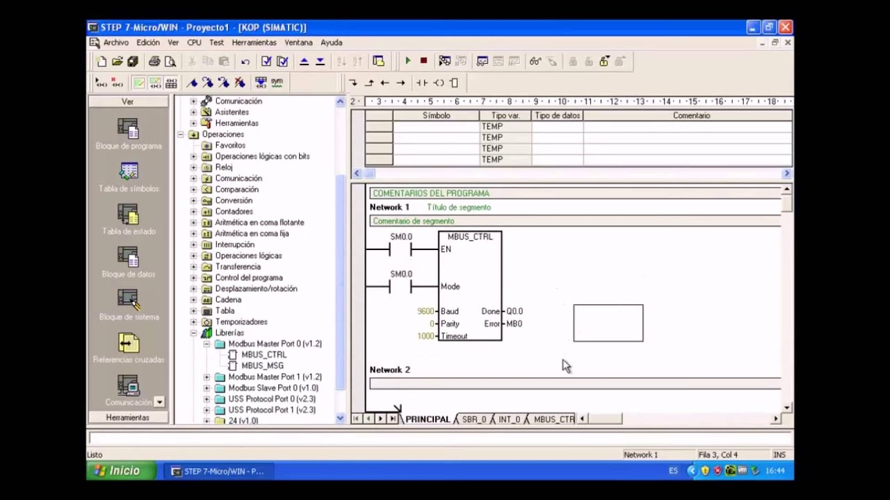 Modbus plc tutorial