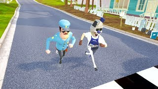 COP NEIGHBOR VS COP ICE SCREAM RACES - Hello Neighbor
