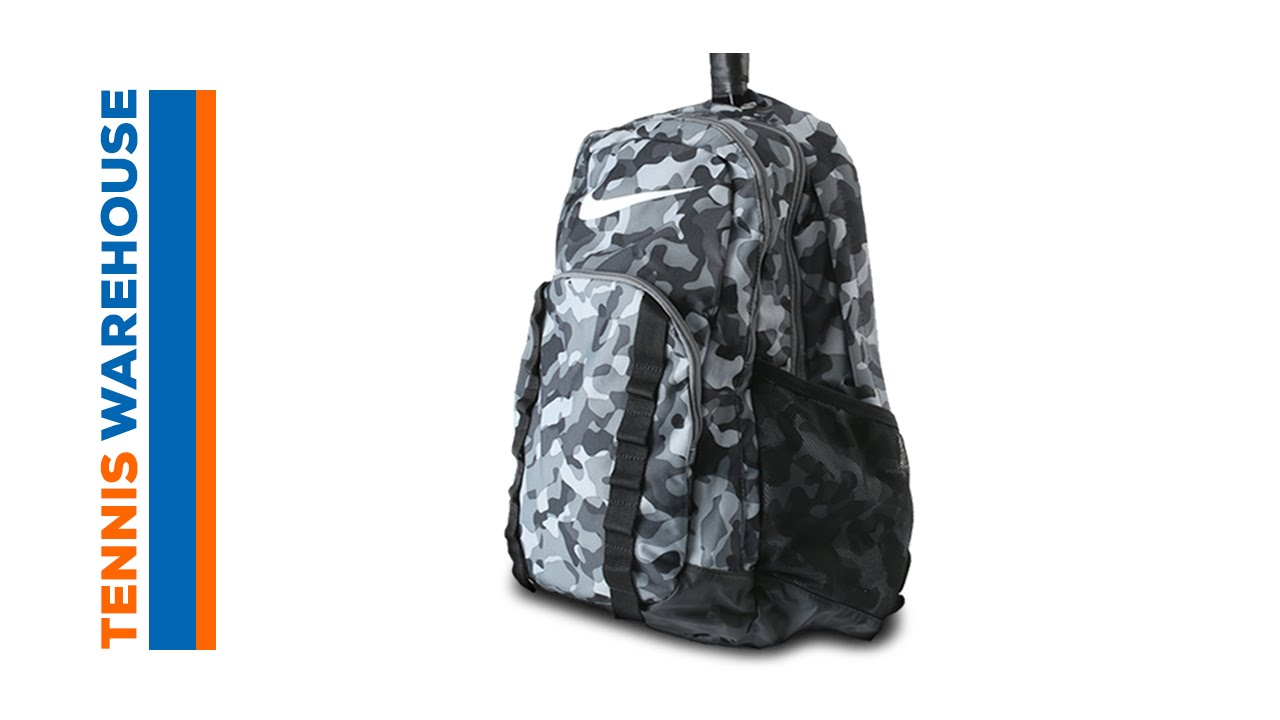 70a1690c5c56b Nike Brasilia 7 Camo XL Backpack - YouTube
