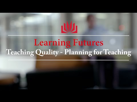 Learning Futures: #1 Planning for Teaching
