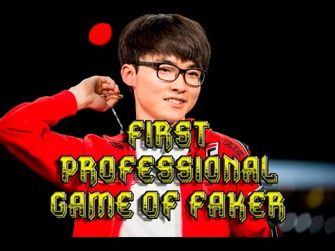First Professional Game of Faker - League of Legends