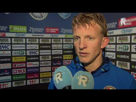 Dirk Kuyt na afloop van Sparta - Feyenoord