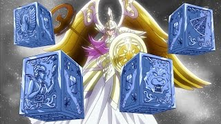 La leyenda de las 4 armaduras de origen desconocido - Caballeros del zodiaco