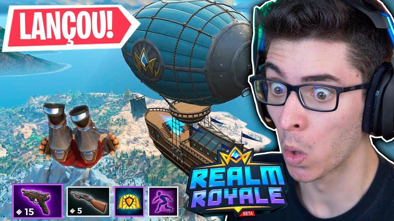 NOVO BATTLE ROYALE GRÁTIS!! Estou VICIADO em Realm Royale!!