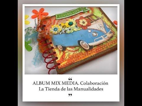 TUTORIAL SCRAPBOOK.  ALBUM MIX MEDIA
