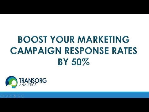 Webinar: How to get a 2-X lift in campaign response rates?