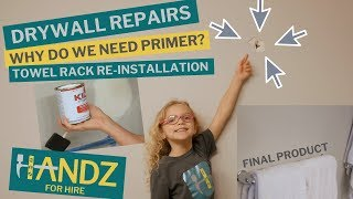 Drywall Repair: Patch, Spackle, Sand, Prime & Paint a Hole in the Wall