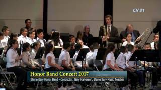 honor band concert elementary intermediate high school march 2 2017 sausd yv