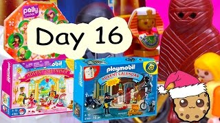 polly pocket playmobil holiday christmas advent calendar day 16 toy surprise opening video