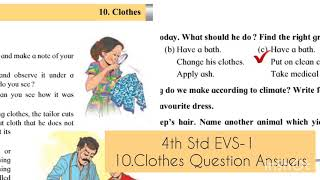 4th 10. Clothes Question answers    4th EVS-1 chapter 10: Clothes Question Answer's