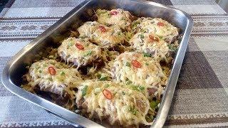 вкуснейшие  Куриные Бёдра без  кости  под Сырной Корочкой на Картофельной  подушке  !!!