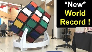 *New* LARGEST RUBIK'S CUBE smashes my record. World record biggest 3x3x3 puzzle