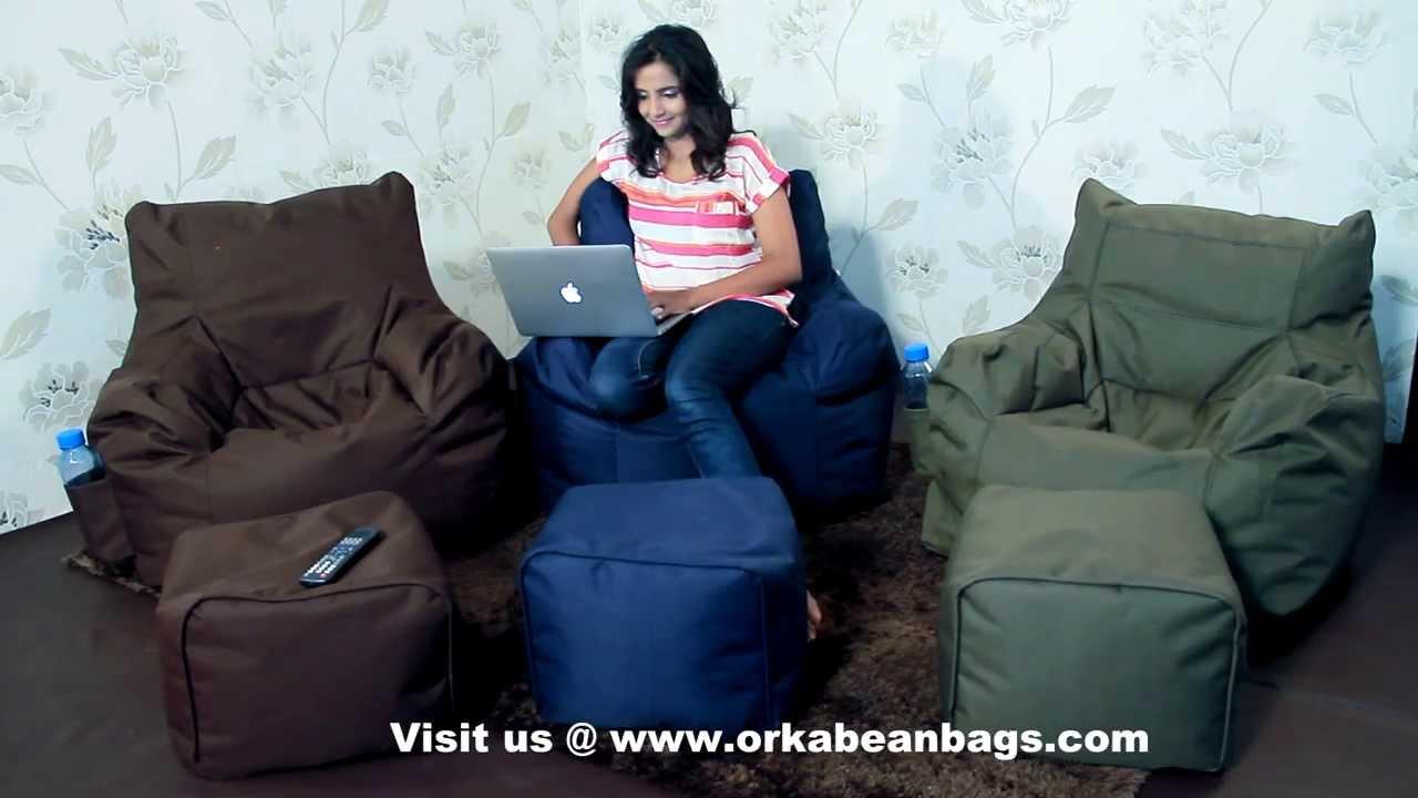 Orka Bean Bags Arm Chair & Orka Bean Bags Arm Chair - YouTube