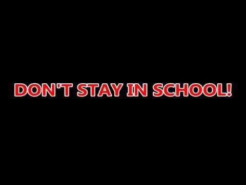 Don't Stay in School Karaoke (Lyrics with Instrumental)