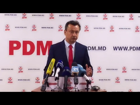 Briefingul organizat de Partidul Democrat din Moldova (04.07.2017)