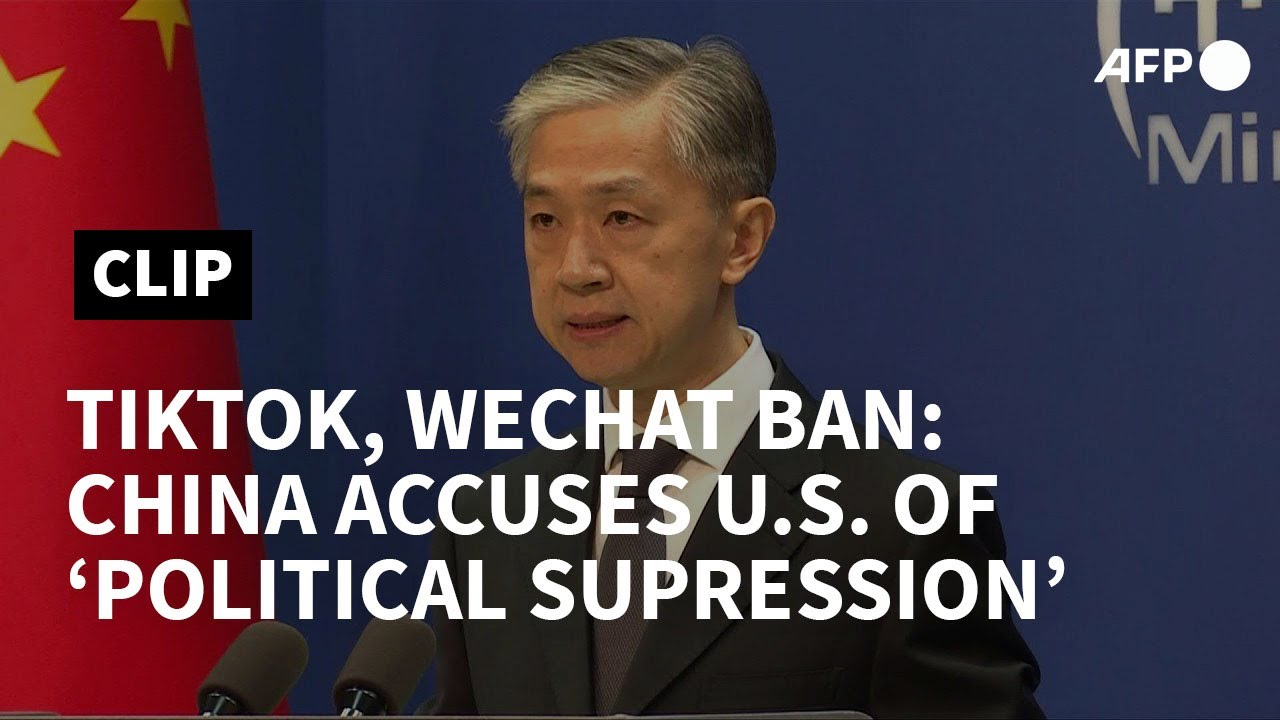 China accuses US of 'political suppression' over TikTok, WeChat ban | AFP